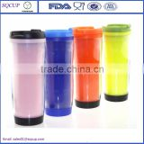 2016 cheapest promotional 350ml plastic thermos coffee mug,double wall plastic insert paper travel mug,thermo tumbler                                                                         Quality Choice