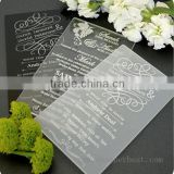 China supplier acrylic wedding invitation card                                                                         Quality Choice