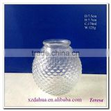 wholesale 170ml ball shaped glass flower vase