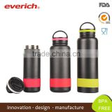 18oz Powder Coated Stainless Steel Water Bottle/Stainless Steel Water Bottles With Plastic Top