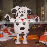 PVC inflatable dalmatians, inflatable cartoon character , advertising product, transparent PVC bottle