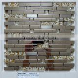 Floor tiles standard size stainless steel mix glass mosaic                                                                                                         Supplier's Choice