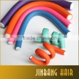 Hot sell 10Pcs/Lot 24cm Hair Rods Colorful Plastic Hair Rollers Bendy Twist Curl Roller Girl's DIY Hair Styling Tools