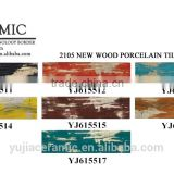 Foshan tile colorful floor tile 150x600 wood look ceramic floor tile porcelain wood tile