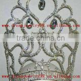 new designed crystal pageant tall crown