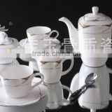 china new products gifts Japanese Chinese ceramic porcelain cup & saucer coffee & tea pot sets