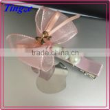 Wholesale new design fancy korean style hair accessories ribbon hair clip for girls TD35