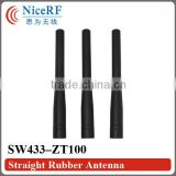 Straight Rubber Antenna SW433-ZT100 for Wireless Transceiver RF Module 433MHz Straight Rod Antenna 433MHz Rubber Antenna 433