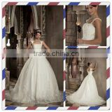 Cheap Charming Appliqued Beaded Strapless Neck-line Wedding Dress With Straps XYY003-028