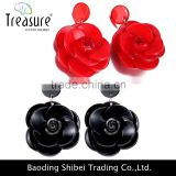 cute earrings flower candy color earrings with low price