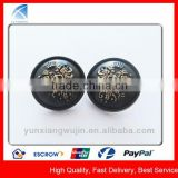 YX5675 Custom Black Metal Fashion Dome Button
