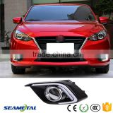 Auto 12V LED Daytime Running Light Fog Lamp DRL With Turn Signal Light Front Light For Mazda 3 Axela 2013+ 2014 2015 Fog Light                                                                         Quality Choice