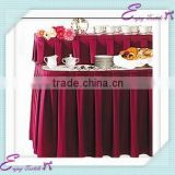 YHK#01 box pleats table skirt - polyester banquet wedding wholesale chair cover sash table cloth skirt linen