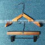 Clothes Clothing Type and Plastic Material woman wooden hanger with body shape wire