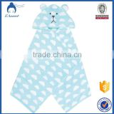 Wholesale Home China 100% Terry Bamboo Cotton Baby Hooded Towel Wave Point Baby Hooded Shower Towel