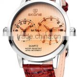 skone 9142 Double Quartz Movt quartz analog dual time watches