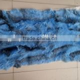 100% Real Dye Rabbit Plate / Blue Rabbit Fur Skin Plate For Clothes