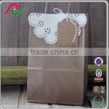 recyclable handmade custom made kraft paper lace wedding gift bags