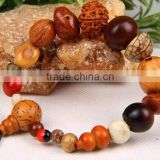 Eighteen Mixed Bodhi Seed Wrist Mala Tibetan Buddhist Prayer Beads Mala Bracelet