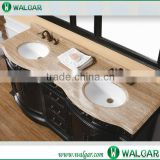 Prefab low price beige color type artificial marble vanity top