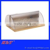 Hot sale wooden bamboo plastic bread box