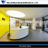 Beauty salon furniture designs reception table/elegant modern salon reception desk