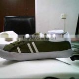 Canvas Shoes Men's Sizes Army Green With PU Stripe