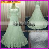 Hot sale lace wedding dress with a jacket
