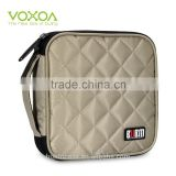 Khaki 32 Capacity 230D Space Twill PVC Fabric DVD Case CD Holder personalized cd case multi disc dvd cases