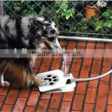 Step and Spray Doggie Dog Cat Pet Paw Water Drinking Fountain