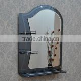 bathroom 2 face framed wall mounted layer double mirror with shelf craftwork artistic mirrors