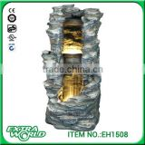 polyresin led light outdoor artificial waterfalls rocks