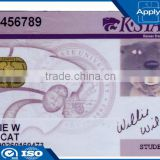 Customized prinitng magnetic stripe card PVC contact smart IC card with LF/HF/UHF chip for payment