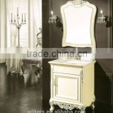 Rustic bath furniture for corner cabinet in beige WTS255