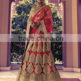 Qualified Red Satin Lehenga Choli/fancy lehenga choli/Lehenga Choli Wholesaler In India