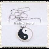 New arrival Yin yang symbol magnetic penddant necklace, cz stone inlay, 10000 gauss.