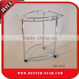 Stainless Steel 2 layers 3 wheels catering tray trolley