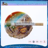 Beach tourist souvenir resin ashtray with custom logo