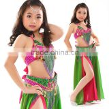 Handmade Bright Coloured Little Girls/Children's Belly Dance Performance Costumes Dress Suits