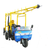 Drilling 200m three-wheeled tractor mounted drilling rig