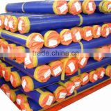 Best quality mesh sheet plastic hdpe tarp roll , orange blue polyethylene tarpaulin roll