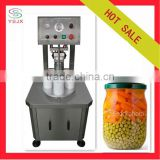 Semi-automatic glass jar lid vacuum sealing machine