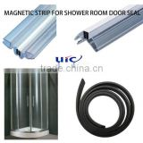 extruded flexible rubber magnetic strip/shower magnetic seal,magnetic strip for shower room door, shower door magnetic strip