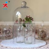 hand made borosilicate glass dome covers for flower decorations