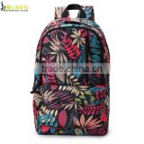 fashion outdoor waterproof nylon printed backpack 2016