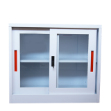Half Height two glass display door steel filing cabinet,lockable lightweight metal file cabinet