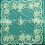 Newest design embroidery sequin table cloths overlay for wedding party