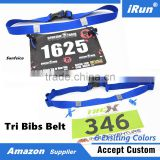 Heavy Duty Quick Action Buckles for Faster Tri Transition Race Ready Belt - Just Grab, Snap and Go - 6 Existing Colors - Blue