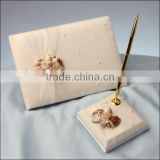 Sell Well wedding guest book and pen holder/wedding decoration/Seashell wedding gift set