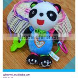 Cute panda pressing musical Plush toys baby educational stuffed & plush toy baby bed hanging toys